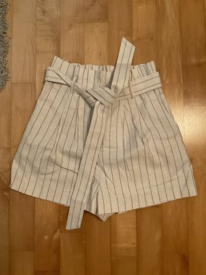 Asos Pantalón corto de talle alto multicolor Lino