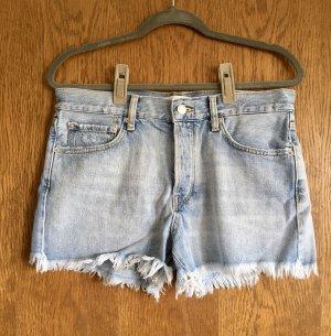 Mango Short en jean bleu azur