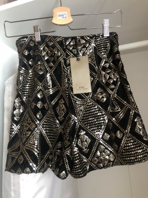 Short Zara Pailletten Neu