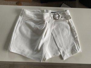 Zara Basic Jupes-culottes blanc-blanc cassé