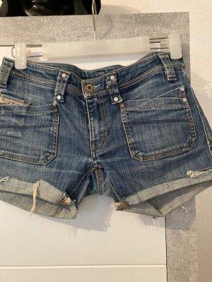 Diesel Industry Denim Shorts blue-dark blue cotton