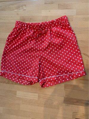 Noisy May Pantaloncino a vita alta rosso-bianco