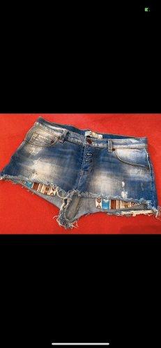 Bershka Short en jean bleu acier