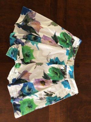 Zara Basic Pantaloncino a vita alta multicolore