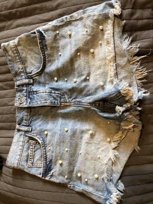 Mango Hoge taille jeans lichtblauw