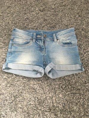 C&A Pantalón corto de tela vaquera azul celeste-azul aciano