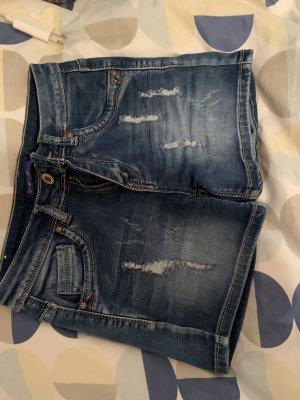 Pantaloncino di jeans blu scuro-blu