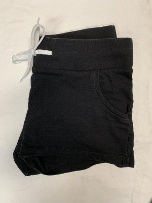 H&M Pantalón corto deportivo blanco-negro