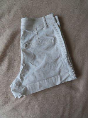 H&M Pantaloncino di jeans bianco-bianco sporco Cotone