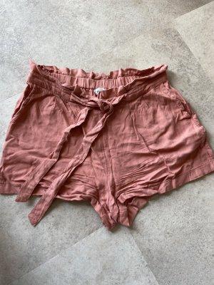 Pimkie Pantalón corto de talle alto rosa tejido mezclado