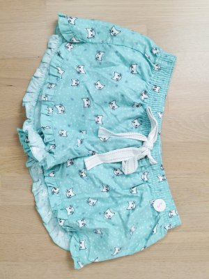 Shorts white-baby blue