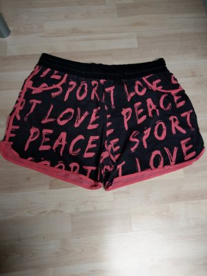 bpc bonprix collection Shorts nero-rosa