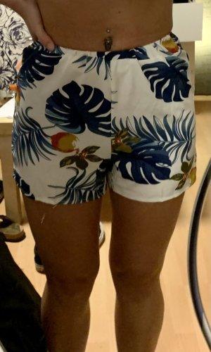 Sheinside Short taille haute blanc