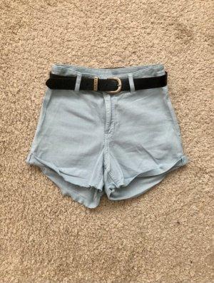 Short taille haute bleu azur