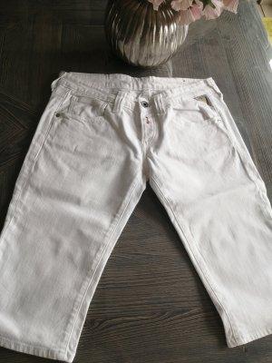 Replay Pantaloncino di jeans bianco