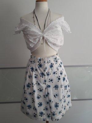 Conte of Florence High-Waist-Shorts white-cornflower blue
