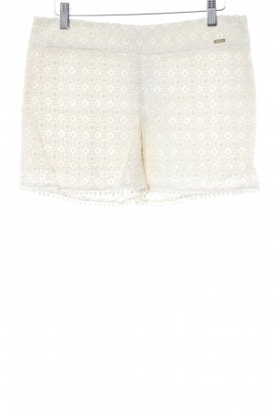 Shorts creme Lochstrickmuster Beach-Look