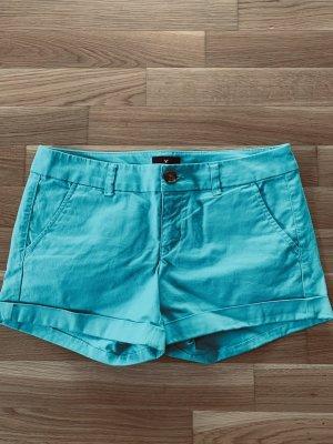 American Eagle Outfitters Pantalón corto de tela vaquera turquesa