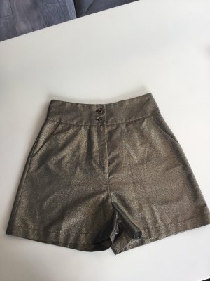 Denny Rose High-Waist-Shorts gold-colored