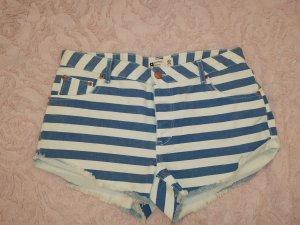Gina Tricot Short en jean blanc-bleu