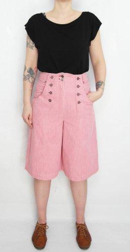 Pantalon taille haute rosé-vieux rose coton