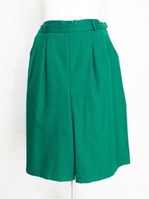 True Vintage Falda pantalón de pernera ancha verde bosque Lana