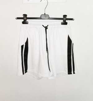SheIn Pantaloncino a vita alta bianco-nero