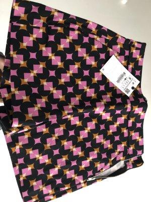 Shorts High-Waist mit Muster