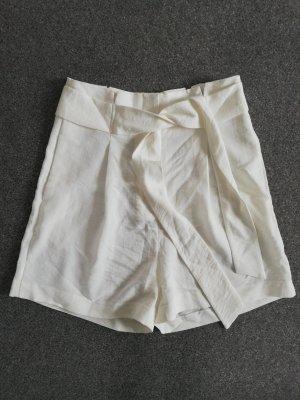 Camaieu Pantalón corto de talle alto blanco