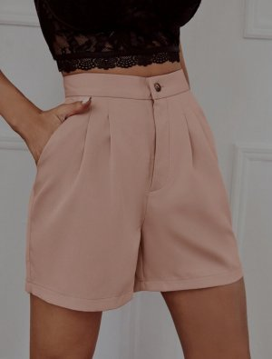 Shorts hohe Taille.  Pfirsich,  rosè