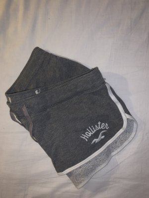 Hollister Short de bain gris foncé-blanc