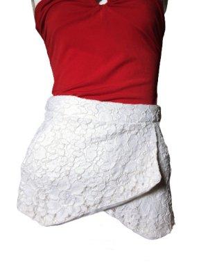 Amisu Shorts blanco-blanco puro