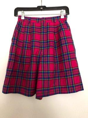 Shorts Hosenrock Vintage Highwaistshorts 32/34 Pink kariert Bunt Japan