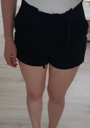 Short taille haute noir