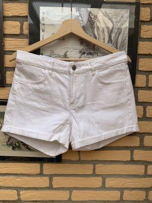 Shorts Jeans Weiß Gr 38