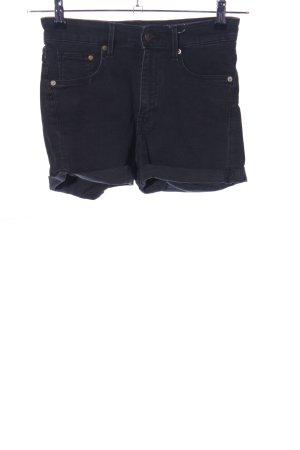 Denim Shorts black casual look