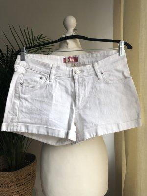 Shorts | Jeansstoff | Weiß