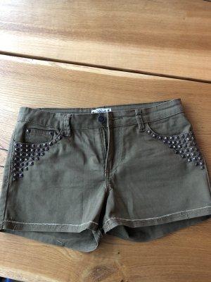 Shorts khaki oliv mit Nieten von Deby Debo military