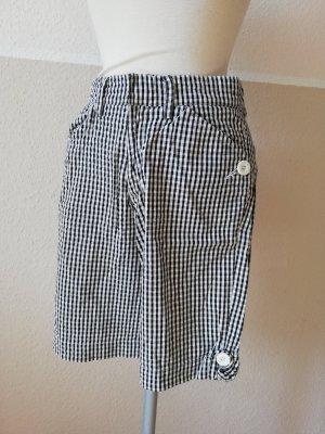 Shorts kurze Hose Tuchhose schwarz weiß kariert Gr. S 36 Sommerhose