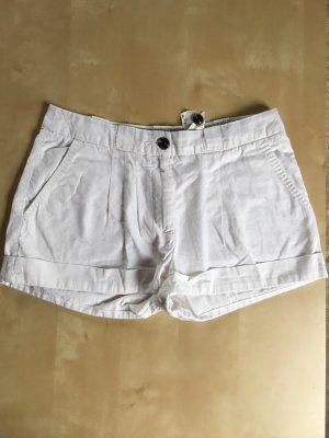 Shorts kurze Hose weiß Hotpants Stoff H&M 36