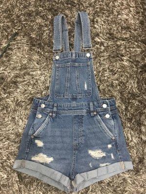 H&M Bib Shorts steel blue-dark blue