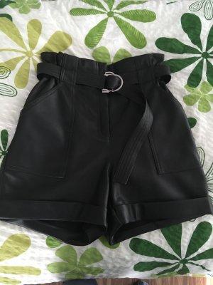Shorts Leder-Look