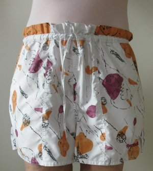 Reebok Pantalón de Playa blanco puro-naranja Poliéster
