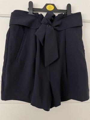 H&M Pantaloncino a vita alta blu scuro