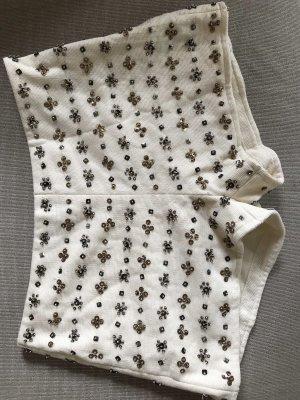 Shorts mit Pailletten Stickerei Zara