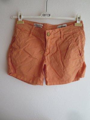 rich and royal Denim Shorts orange cotton
