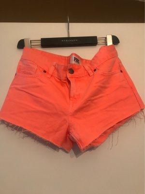 Pink Victoria's Secret Pantalón corto de tela vaquera naranja neón