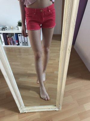 Shorts Pink Jeansstoff