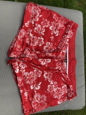 Shorts rot weiß Gr. 38