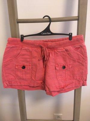 Roxy Pantalone di lino multicolore Tessuto misto